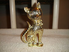 Vintage Torino Cat Earring Holder-Gold Metal Cat-Vintage Jewelry Holder-MEOW!