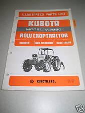 Kubota M7950 Row Crop Tractor Parts Manual