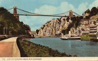 Clifton Suspension Bridge from Rownham Postcard Harvey Barton 24289 (60280)