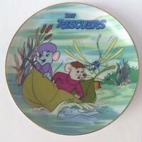 Disney Animals The Rescuers RARE MISPRINT Plate Bernard Bianca Evinrude 1980's