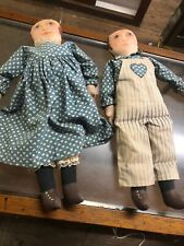 Sue Johnson Hand Painted Dolls 1087 #14 And #15 Estate Find Fast Free S/H=