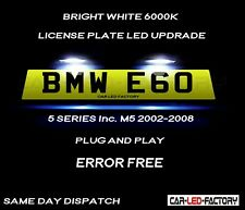 Fit BMW E60 & M5 5 Series 02-08 White LED Number Plate Light Bulb *PLUG & PLAY*