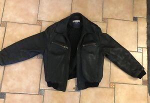Cordon Lederjacke Black 90er