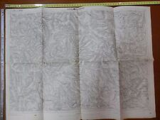 Vecchia carta geografica militare prima guerra mondiale Serbia GORNJI MILANOVAC