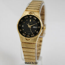 NEW CITIZEN BATTERY QUARTZ WATCH for Women * Gold Tone White Gift Box * 15D_W61