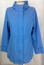 EDDIE BAUER Lightweight Hooded Jacket Coat Baby Blue Woman's Size Medium  ~ EUC