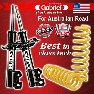 Front Gabriel Ultra Shocks + Lowered King Springs for Ford Fairlane NA NC 8CYL