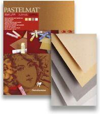 Clairefontaine 96016C Zeichenblock Pastelmat 12 Blatt 18x24cm 360g Pastell Kreid