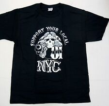Support 81 Hells Angels 3rd st Crew NYC New York T Shirt size large NEW #sku
