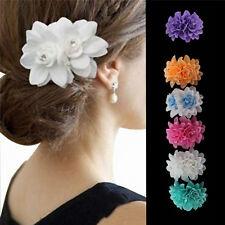 Womens Fashion Flower Hair Clip Hairpin Bridal Wedding Party Hair Accessories FT