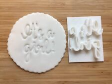 Embossing for cupcake and cake - stamps sugar paste IT'S A GIRL