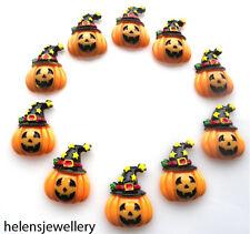 10 Hermosas Pumpkins kitch Cabuchones Kawaii Decoden-Rápido Envío Gratis