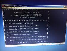Arranque, Completa De Ms-dos 5.00 y gane 3.11 CD de arranque CD de instalación y el controlador Config!!!