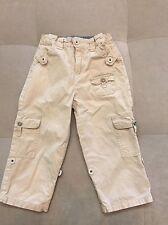Baby Boy Guess Cotton Pants Roll Up Size 24 Month Beige Super Cutie