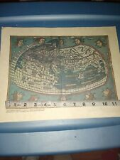 Unframed Reproduction Map Of The World By Claudius Ptolemy 1482