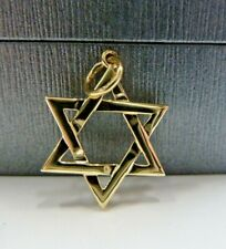 9ct Solid Gold Star Of David Pendant * Fully Hallmarked *