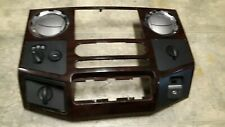 09 Ford F-250 Super Duty woodgrain dash trim radio bezel Sync USB port