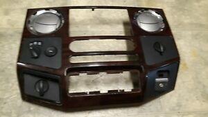 09 Ford F-250 Super Duty woodgrain dash trim radio bezel Sync USB port