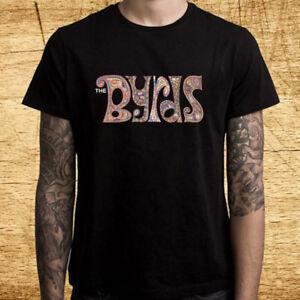 The byrds Logo Men's Black T-Shirt Size S M L XL 2XL 3XL
