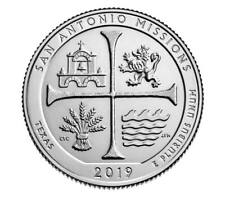 New! Quarter coin, USA 25 cents, San Antonio Historical National Park, UNC, 2019