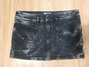 Diesel Industry STONEWASHED JEANS Denim MINI Skirt Size AGE 14 years