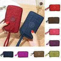 Womens Phone Bag Short Wallet Three-Layer Zipper Purse Big Size Coin Purse DBD