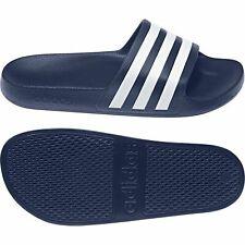Adidas Unisex Adilette Aqua Beach Shoes Slippers Navy White F35542