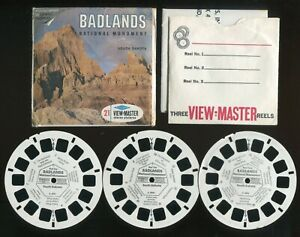 Sawyer's View-Master Packet #A489 Style S6b Badlands National Monument Complete