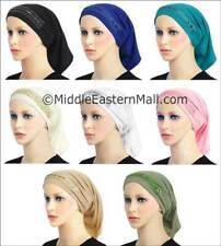 Lot of 8  Luxor Lycra Tube Hat Beanie Scarf Muslim Hijab Headwear accessories