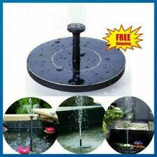 Upgraded Solar Power Fountain Bird Bath Water Pump Spray Kit Outdoor Pond Patio