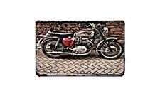 A65L Motorbike Sign Metal Retro Aged Aluminium Bike