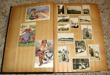 POSTCARD PHOTO ALBUM 1928 EUROPE FRANCE NETHERLANDS GERMANY ITALY ENGLAND SWISS
