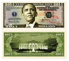 """President Obama  """"2014""""  Commemorative  Bill"""