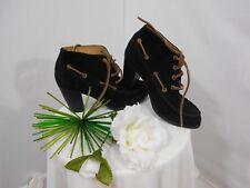 NWOB!~Sebago/Oxford~100%Suede Leather~6~Black~
