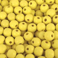 Wooden Round Beads, Pack 100, Choose Your Colour,  Wood Craft Bead, 12 mm