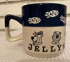 """Vintage YOGI BEAR Jellystone Park Coffee Mug Stoneware 3 1/2"""""""