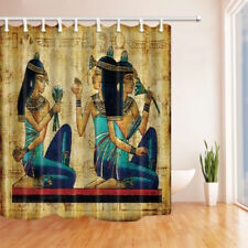 Egyptian mural women Shower Curtain Polyester Bathroom & 12hooks 71*71inches