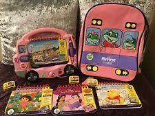 My First Leap Pad Pink Interactive BUS Phonic Sounds Disney Princess Dora