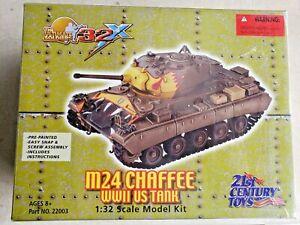 Ultimate M24 Chaffee WW11 US Tank 1:32 Scale Model Kit 21st Century Toys #22003