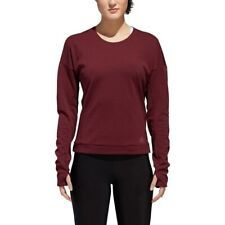 adidas Performance Womens Supernova Running Sports Long Sleeve Pullover Top Red