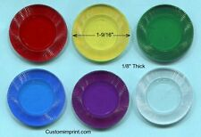 Blank Plastic Tokens, Poker Chips, Translucent 500 pcs. Good Quality - New!