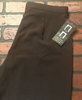 Kim Rogers Signature Slender Fit Pants Brown Women's Size 10 NWT