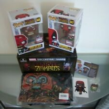 Marvel Collector Corps - Zombies POP 667 Deadpool 668 Red Skull XL T-Shirt Pin