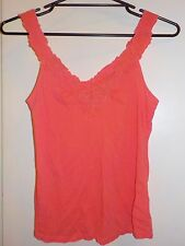 DOTTI gorgeous pink embroidered strap bodice tank cami worn once S