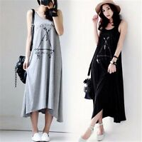 Summer Fashion Casual Women Cotton Sleeveless Maternity Pregnant Party Dress New