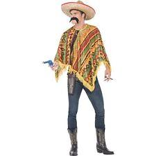 Poncho Instant Kit Moustache Senor Mexican Mens Fancy Dress Costume