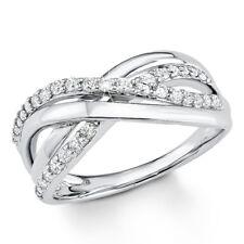 s.Oliver Damen Ring Sterling-Silber 925 Silber Weiß Zirkonia 58 (18.5) 9080588