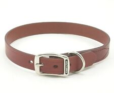 "HAMILTON Creased Leather Dog Collar, 26"" x 1"", Brown"