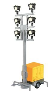 HO Scale Accessories - 1343 - H0 Luminous giraffe on a trailer, with 6 LEDs whit