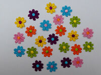 "12/24/48/100 Pack Guipure Lace Daisy Motifs Sew On Flower Applique 1""/2.25cm"